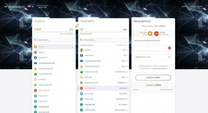 Marketcoin - выгодный обменник криптовалюты
